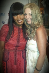 Angela Bassett and Julie Miles